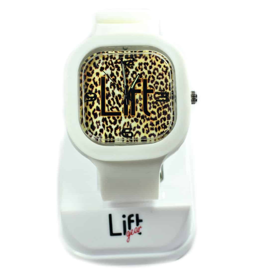 Leopard Print White Band