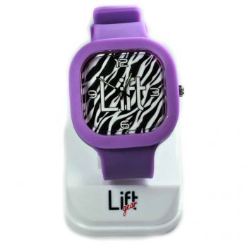 Zebra Print Purple Block