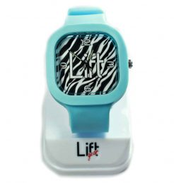 Zebra Print Light Blue Block
