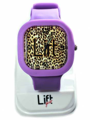 Leopard Print Purple Block