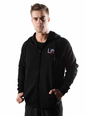 men's black hoodies