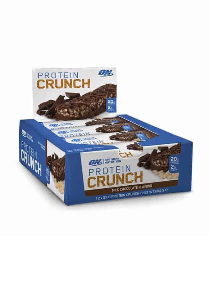 protein crunch bars box optimum nutrition