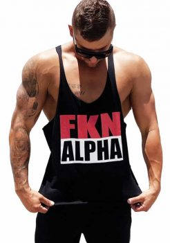 Black Singlet by FKN with Tback