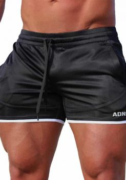 Black and White Gym Shorts by Adonis Gear
