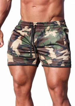 Camo Mens Gym Shorts adonis gear