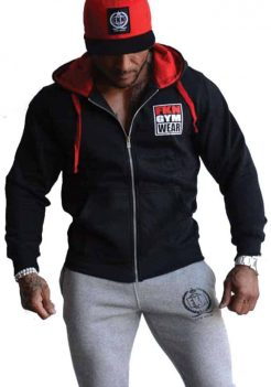 Men's Black Gun Smuggler Hoodie by FKN Gym Wear
