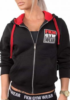 Womens Black FKN Gym Hoodie - Gun Smuggler by FKN