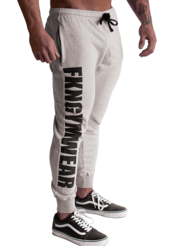 Men's FKN Grey Logo Track Pants Quadfit