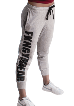 Grey FKN Bootyfit Gym Track Pant for Women