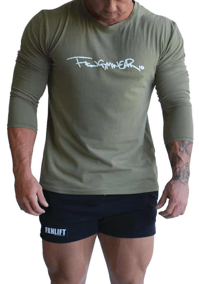 b439ca30bdf Mens Longsleeve Gym Shirt by FKN Gym Wear