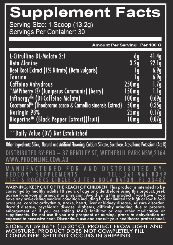 total war supplement nutrition list