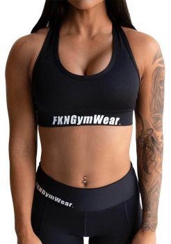 FKN Crop Top Black DTF Gym Wear