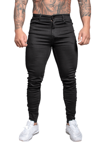 Adonis Muscle Fit Jeans Black Non Ripped