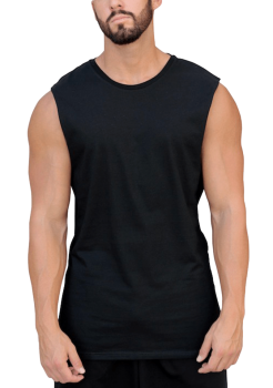 Essentials Black Muscle Tank by Adonis Gear