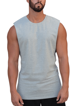 Adonis Muscle Tank Essentials Grey Marle
