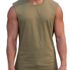 Essentials Khaki Muscle Tank by Adonis Gear