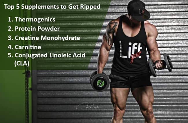 top 5 supplements to get ripped categories