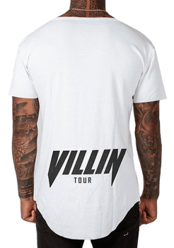 Brick City Villin White Drop Front Tee – Faded Faith