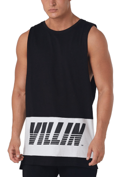 Brick City Villin Sleeveless Tank Black
