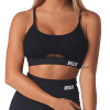 Brick City Villin Black Sports Bra - Misfit Meash
