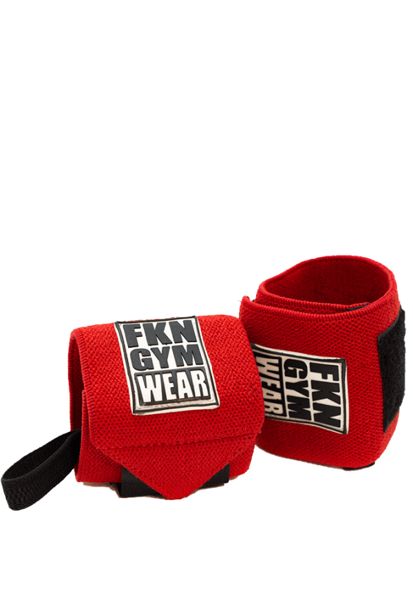 FKN Lifting Wrist Wraps in red