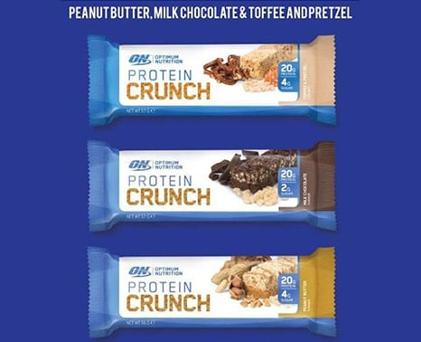 protein crunch bars by optimum nutrition are tasty