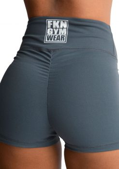 grey scrunch shorts FKN gym wear